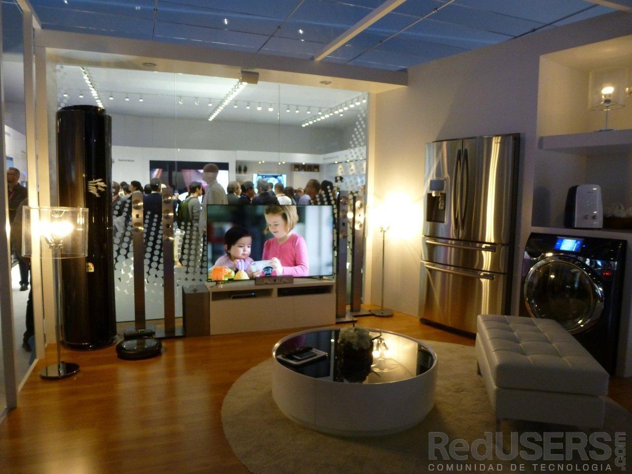 Samsung montó en su espacio una casa donde muestra gran parte de su cartera de productos