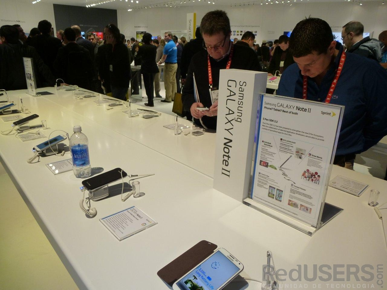 Los smartphones también tienen su stand oficial