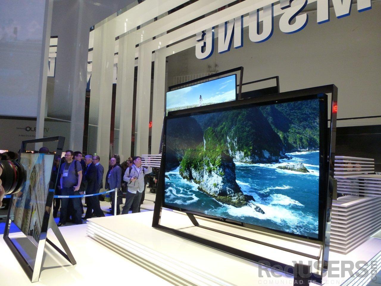 El S9 en la entrada al espacio de Samsung en la CES
