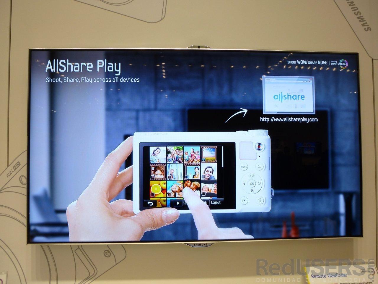 """AllShare, presente en la serie """"Smart Camera"""""""
