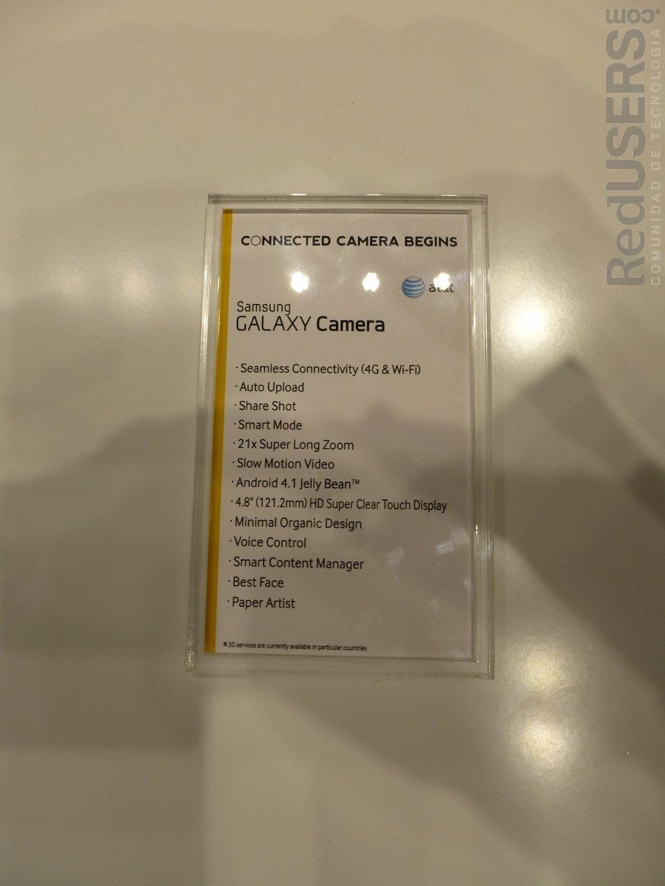 Las especificaciones de la cámara equipada con Android