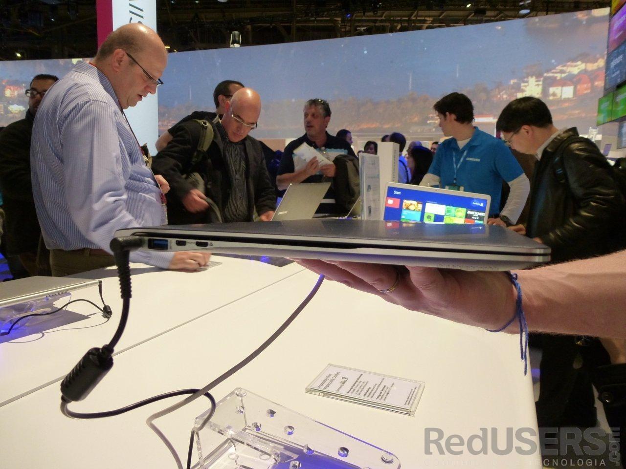 El grosor de la ultrabook estrella de Samsung