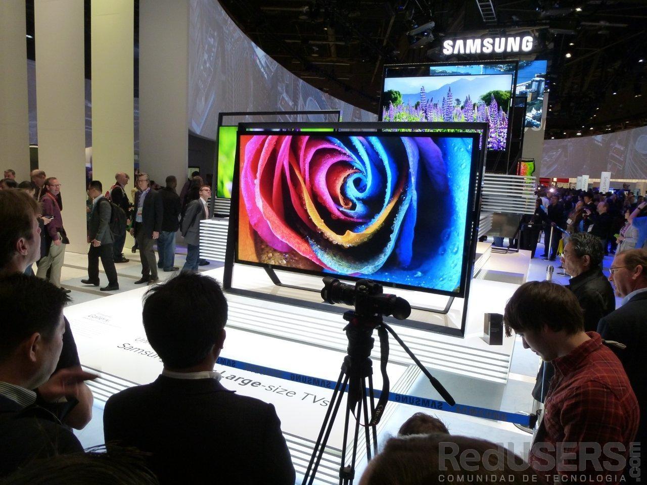 La estrella del Lunes, el Samsung S9 de 85 pulgadas, presente en el espacio de Samsung