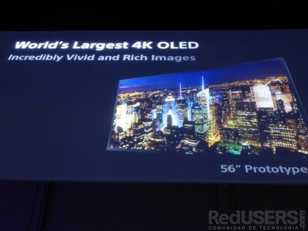 Este es el prototipo del primer OLED 4k del mundo.Este es el prototipo del primer OLED 4k del mundo.