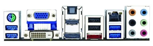 El panel trasero ofrece todas las salidas de video actuales. Además, trae USB 3.0 y eSATA de 6 GBPS