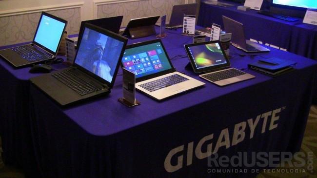Todas las portátiles de Gigabyte, disponibles en la CES.