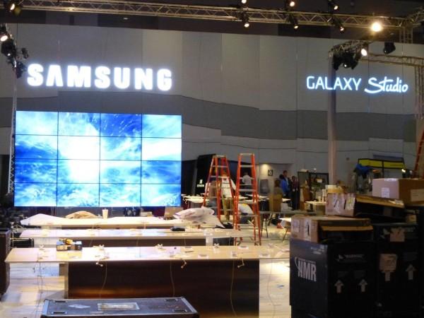 El Stand de Samsung es uno de los más grandes de la feria y promete ser imponente