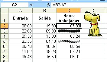 Excel Restando Horas Redusers