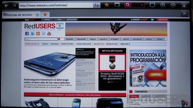 El navegador incluido ofrece una gran compatibilidad.