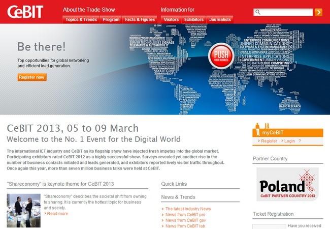 CeBIT 2013 se realizará del 5 al 9 de marzo en Hánover, Alemania.