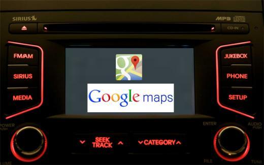 Los mapas de Google comienzan a llegar a los automóviles