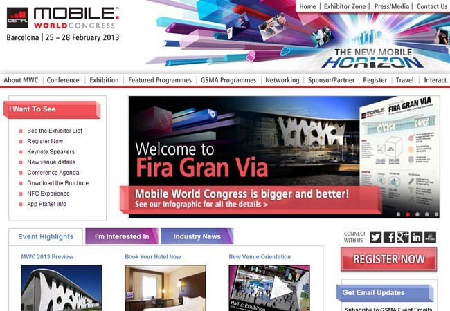 El Mobile World Congress contará con la presencia de 1500 expositores.