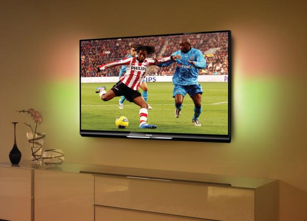 La tecnología Ambilight nos ofrece una mejor experiencia de visualización, fundiendo la imagen con la pared.
