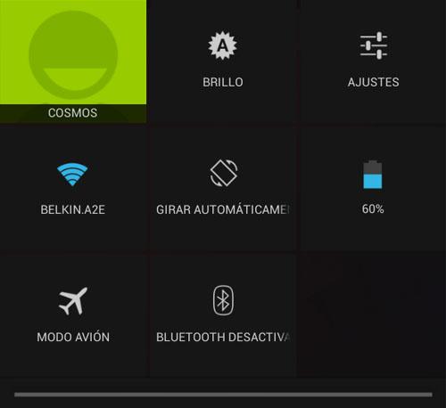 Los ajustes rápidos ahora permiten desactivar conexiones como el Wi-Fi
