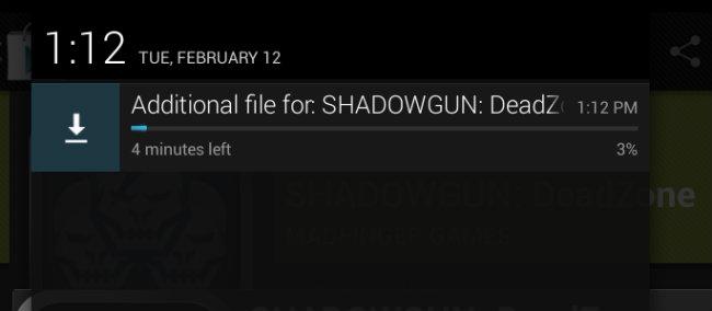 La barra de descarga de Google Play ahora informa el tiempo restante.