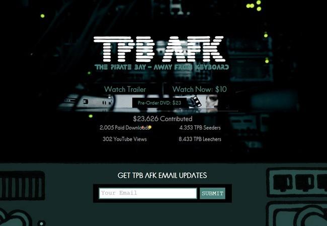 Además de bajarse gratis pro torrents, TPB AFK también se puede ver por streaming (US$ 10) o adquiriendo el DVD (US$ 23).