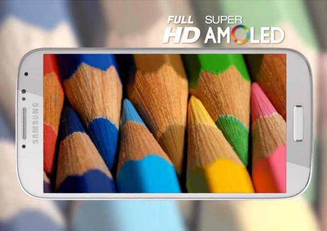 El Samsung Galaxy S4 es solamente el primero de varios productos de la firma con display Full HD Super AMOLED.