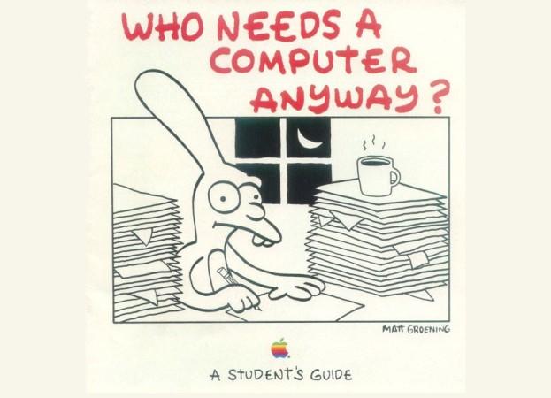 Groening colaboró con Apple creando un catálogo y posters promocionales