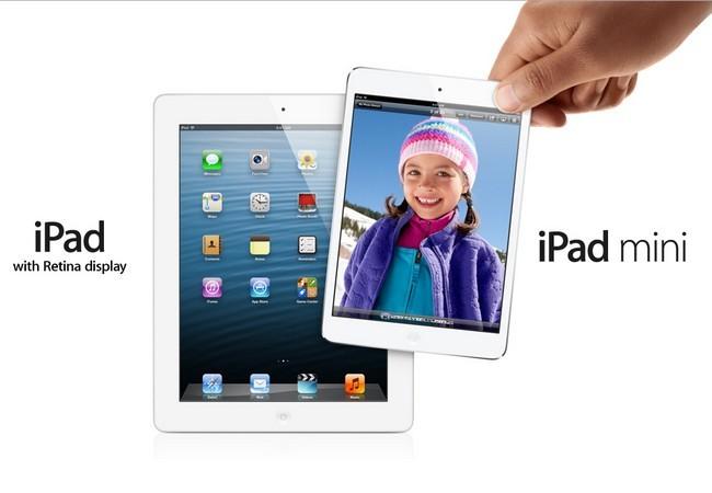 Comparación de tamaño entre el iPad 4 y el iPad Mini.