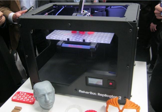 Uno de los equipos más lindos de la feria: La Makerbot Replicator 2.