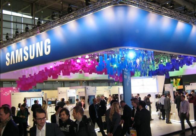 La vista panorámica del imponente stand de Samsung.