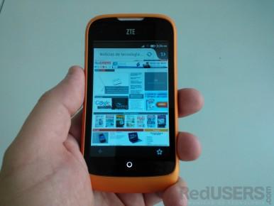 El navegador por defecto es idéntico a Firefox para Android.