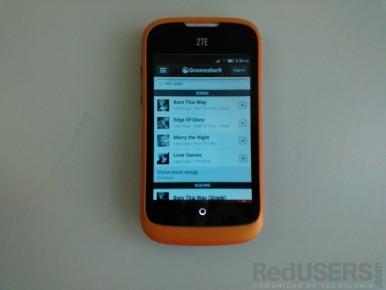 Grooveshark es una de las apps sugeridas para reproducir música.