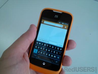 El teclado QWERTY es bastante parecido al de Android.