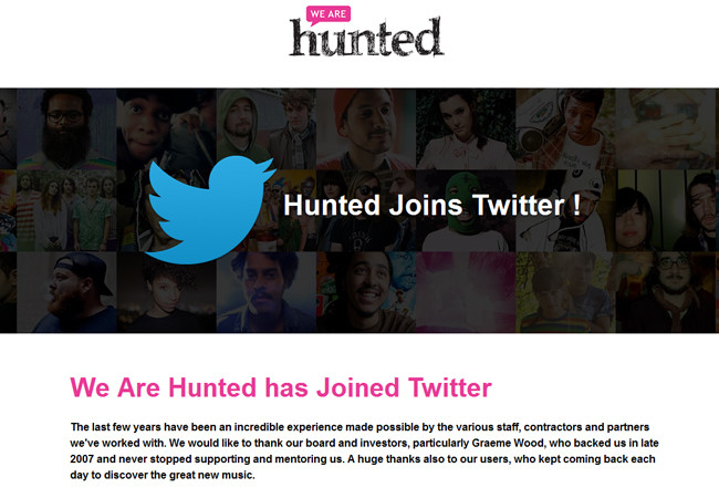 We Are Hunted ha sido adquirida por Twitter. Se espera que datos concretos sobre el servicio que han estado desarrollando estos últimos meses se den a conocer pronto.