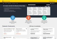 El diseño de Buenos Aires Data ofrece una interfaz más atractiva y funcional.