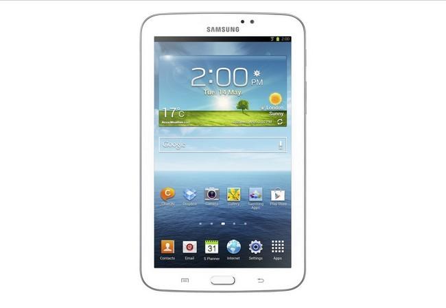 La Galaxy Tab 3 sigue la línea de diseño de los smartphone de la marca.
