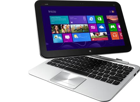 Una ultrabook en el momento de liberarse de su teclado para convertirse en tablet