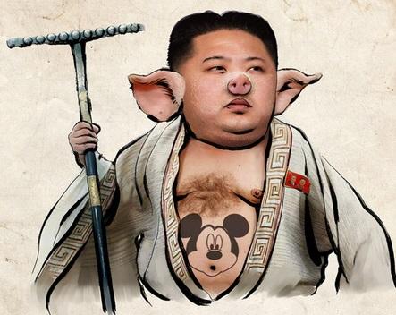 """Los hackers acusan al líder  Kim Jong-un de amenazar la paz mundial, violar los DDHH y """"desperdiciar dinero mientras su pueblo se muere de hambre""""."""