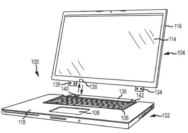 La laptop patentada tendría una pantalla independiente que se comunica con la base mediante tecnología inalámbrica.