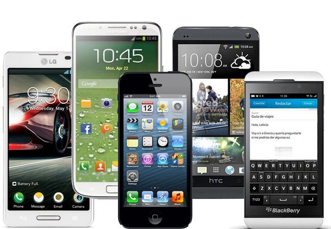 Aquí están, estos son, cinco de los smartphones que serán objeto de deseo en este 2013.