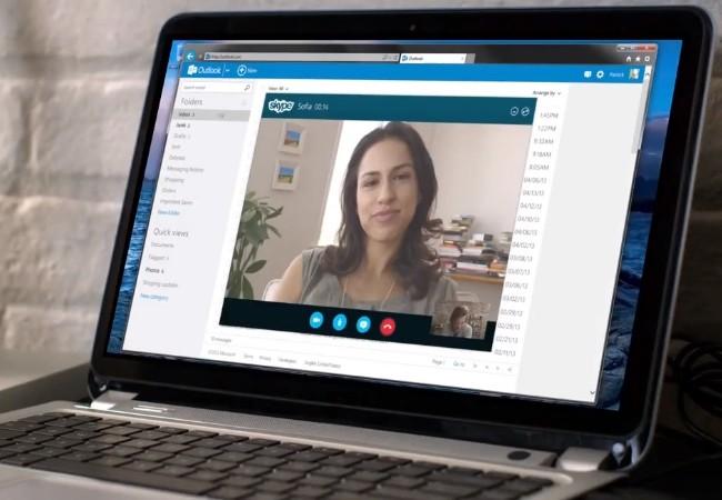 Skype permitirá hablar por chat o videoconferencia desde la interfaz de Outlook.com.