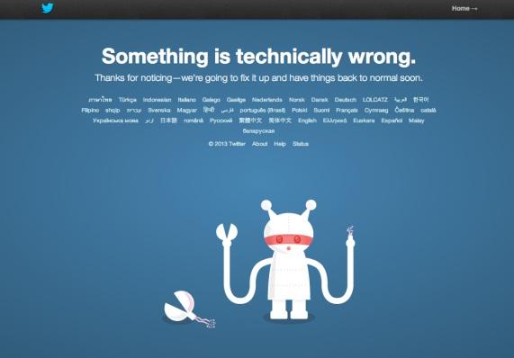 Twitter mostró mensajes de error cuando los usuarios intentaban acceder a los enlaces.