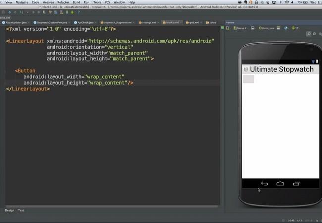 Android Studio permite ver los cambios en el código en tiempo real.