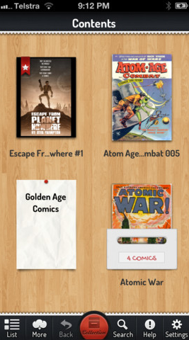 Comic Zeal combina una interfaz acorde y un excelente sistema de lectura.