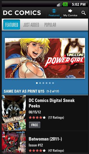 La app oficial de DC Comics tiene un enorme catálogo, pero en inglés y en dólares.