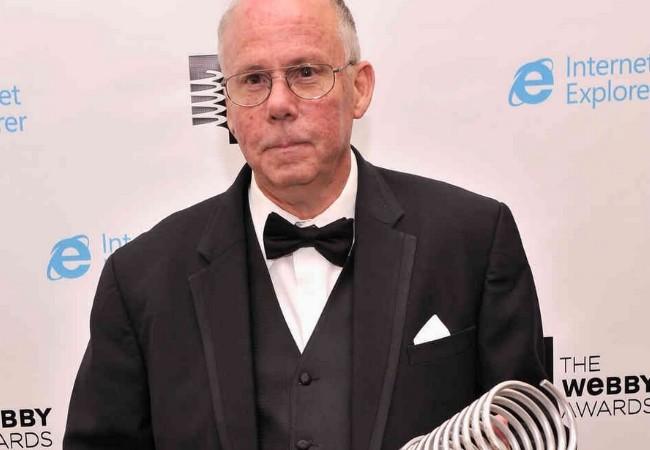 Steve Wilhite, luego de recibir su Webby Award.