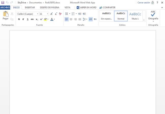 Office Web Apps ofrece compatibilidad total y parecido visual con respecto a la versión de escritorio.