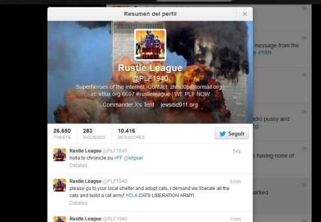 El grupo Rustle League consiguió hackear los sitios de Anonymous y PLF.