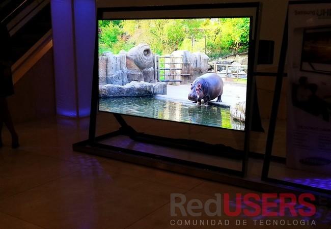 El Samsung UHDTV S9 ofrece una imagen cuatro veces superior a un televisor full HD.