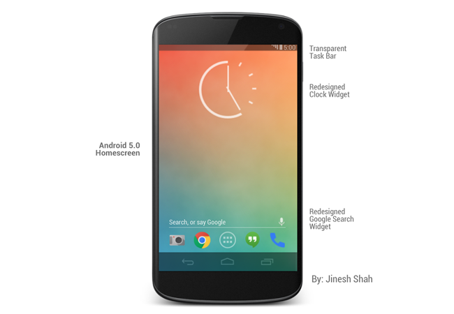 La Home de Android 5
