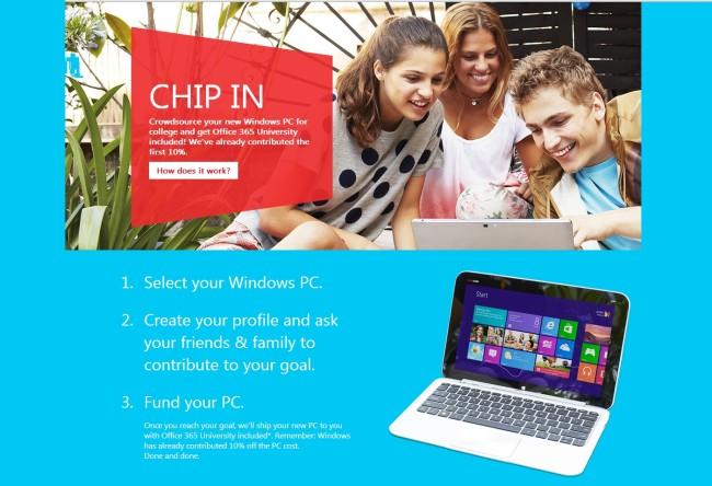 Redmond ofrece además una copia gratis de Office 365 a los primeros 10 mil participantes del proyecto.