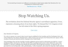La petición pide una reforma de las leyes para evitar el espionaje en la Web.