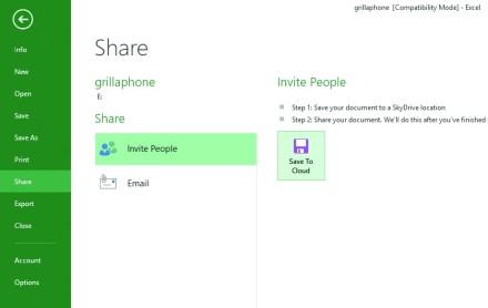 2) En el mismo apartado, pero dentro de la sección dedicada a compartir documentos, encontramos los pasos para hacer esto a través de SkyDrive.