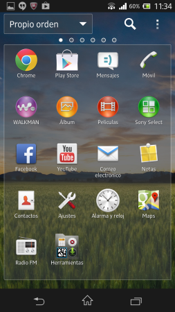 Lista de apps.