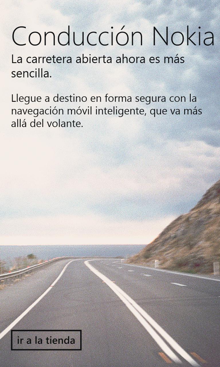 Conducción es otra app interesante de Nokia, enfocada en el uso del teléfono mientras manejamos.